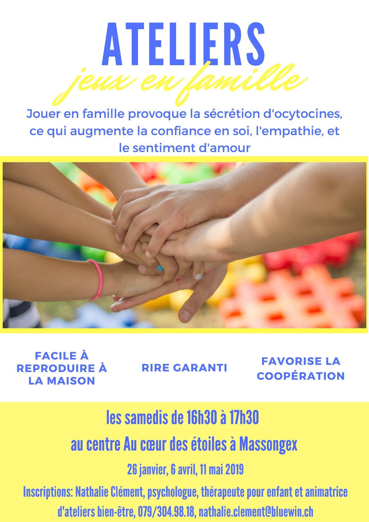 jeux en famille, chablais, massongex, bien-être, moment privilégié, Nathalie Clément