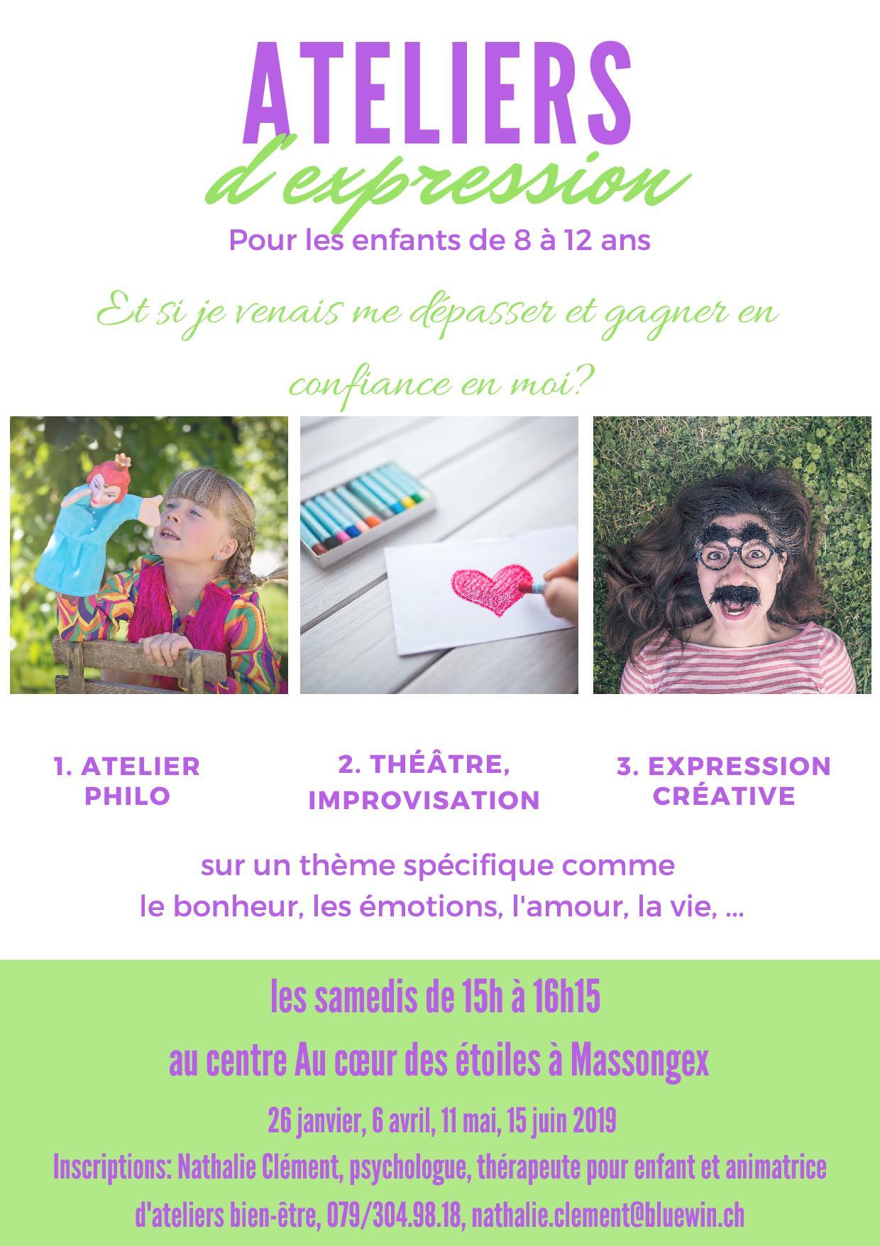atelier pour enfant, philo, créatif, chablais, massongex, bien-être, thérapeute pour enfant, Nathalie Clément